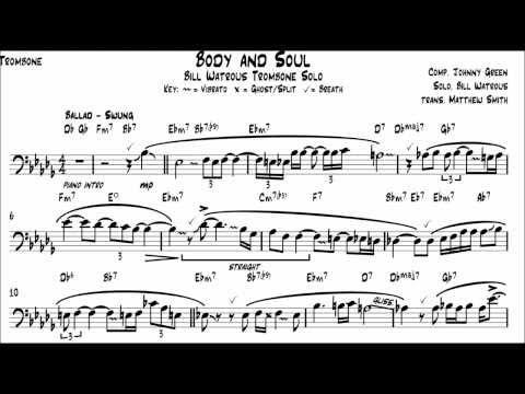 Body and Soul - Bill Watrous Transcription - Matt Smith Music
