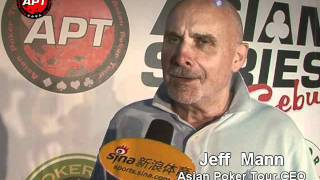 Asian Poker Tour CEO Jeff Mann Interview at the APT Asian Series Cebu 2012