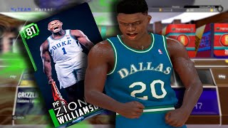 Zion Williamson NBA 2K19 MyTeam Future Rookie Card! FIRST EVER GAMEPLAY DEBUT!
