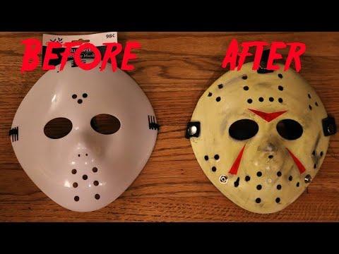 DIY $1 Walmart Jason Mask Rehaul - Friday the 13th Part 3 Tutorial