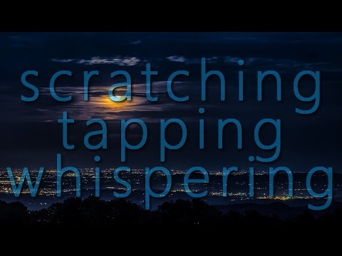 Scratching and tapping while whispering random trigger words [intentional][sksk][scratching][tapping][whisper]