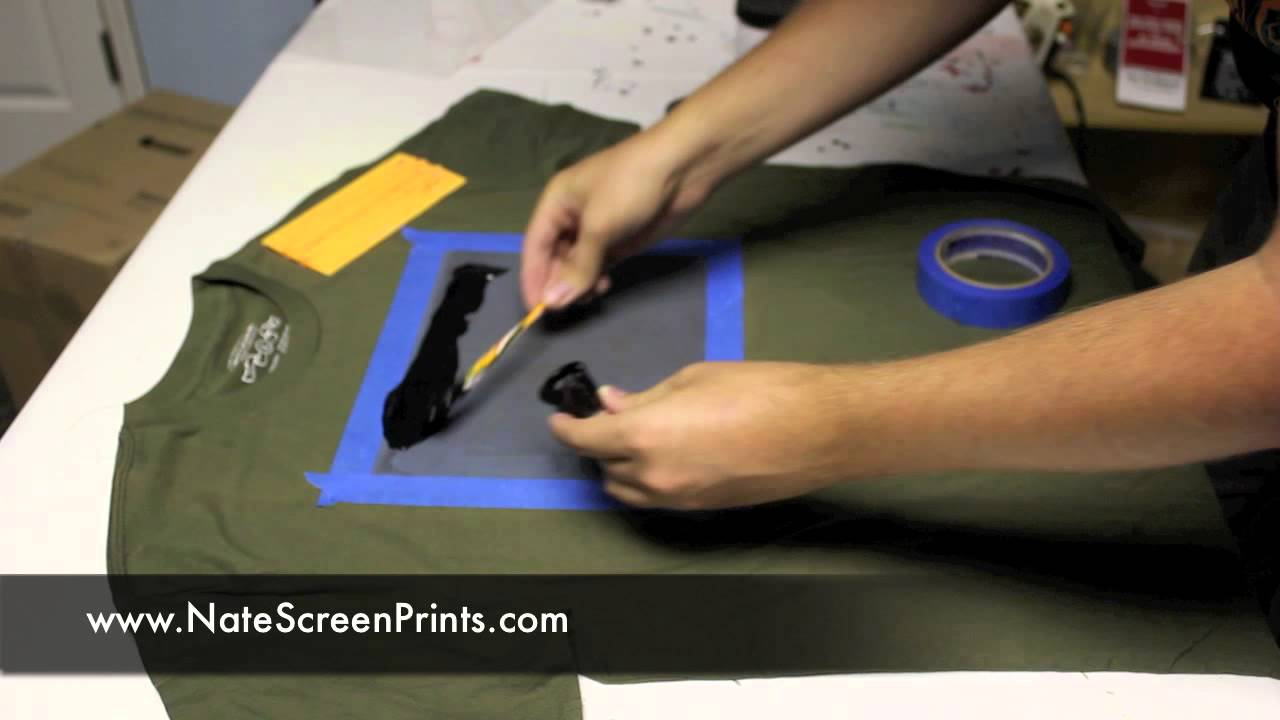 part 4 amazingly simple way to screen print at home youtube - How To Design T Shirts At Home