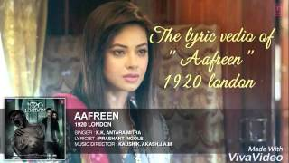 Aafreen lyrics 1920 london