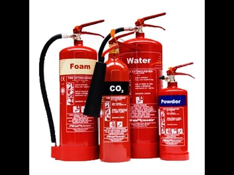 Security training type of fire extinguisher and use
