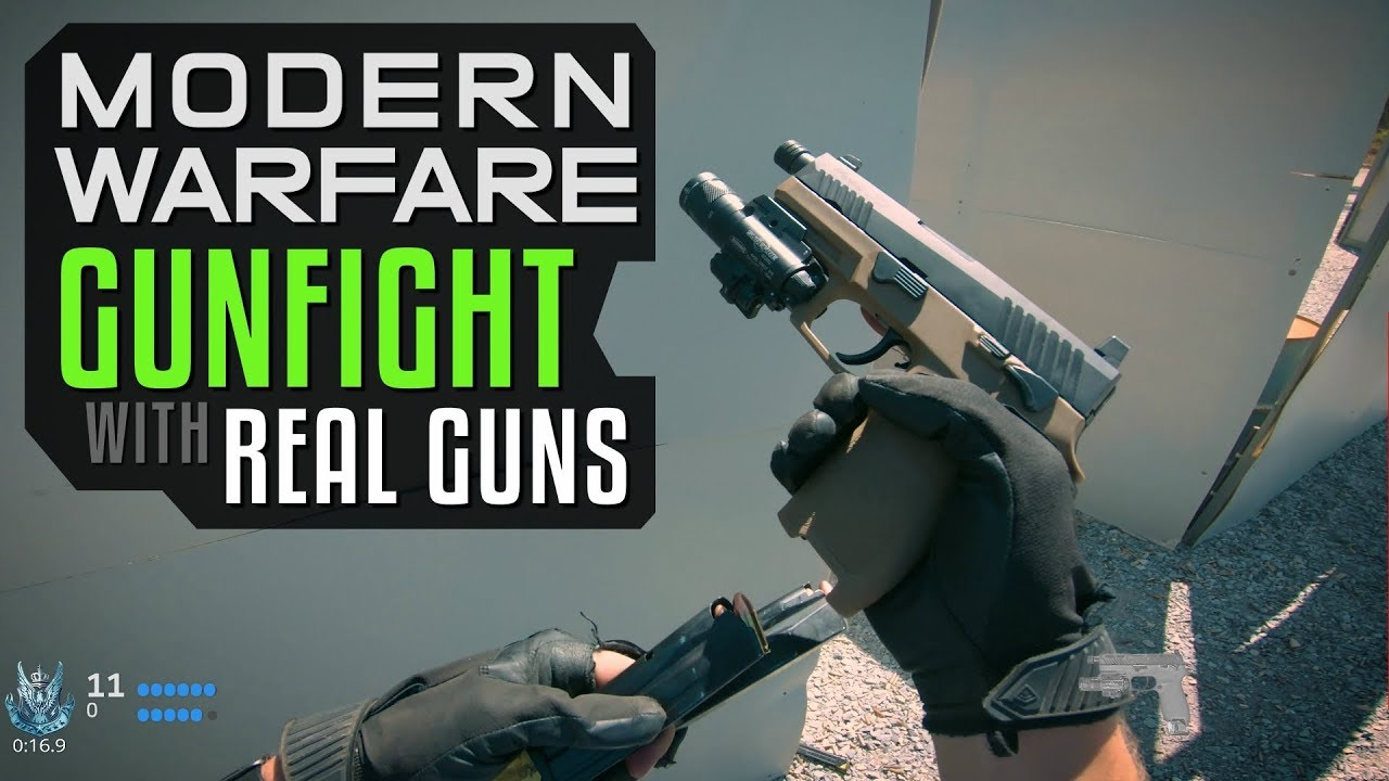 Modern Warfare Gunfight Mode with Real Guns