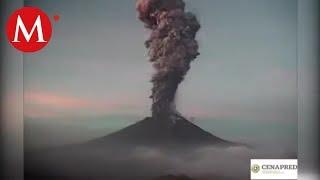 Así fue la explosión del volcán Popocatépetl
