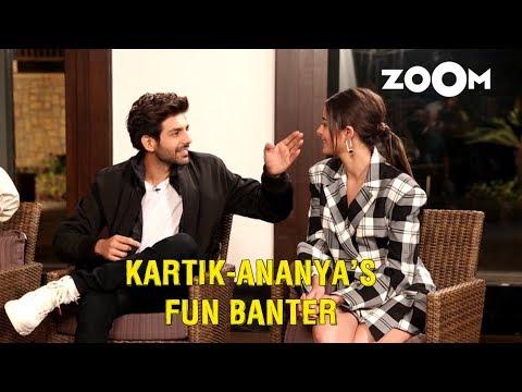 Kartik Aaryan makes fun of Ananya Panday's nose, has fun banter with PPAW cast and more Mp3