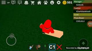 Roblox Work At A Pizza Place | Doing Wierd Things._.