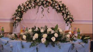 Оформление свадьбы в голубом цвете Алматы