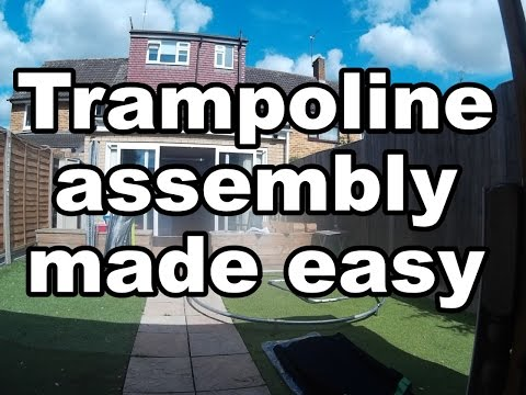 How To Assemble A Trampoline From Toys R Us Start To Finish Made Easy