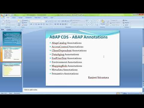 CDS View Quick overview Part -3, CDS View Annotations - YouTube