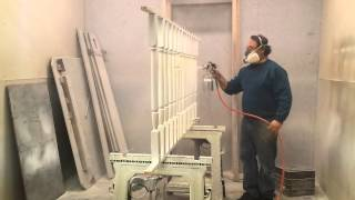 Spray Painting Staircase Spindles Timeless Arts Refinishing