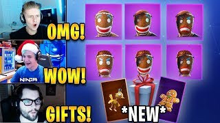 Streamers React To 'NEW' GRATUIT Christmas Gifts From Epic! Fortnite Faits saillants - Moments drôles
