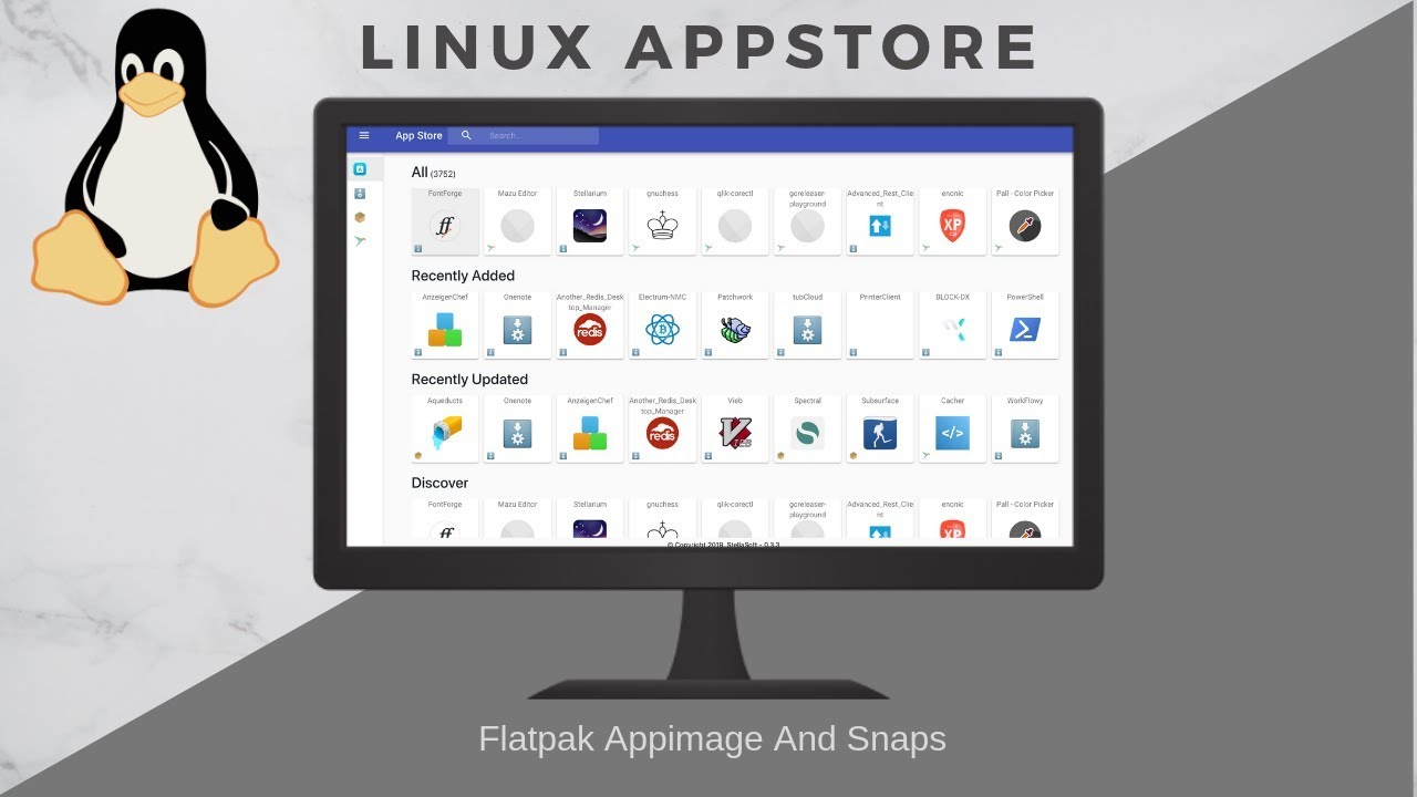Linux Appstore:Snaps, Flatpak & Appimage(All In One)
