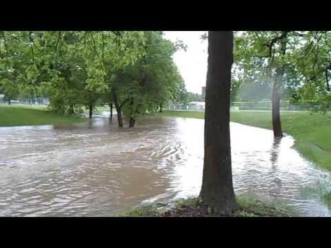 A Flooded Tuxedo Park of Crete Nebraska