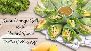 Kani Mango Roll with Peanut Sauce Recipe  Toodles Cooking Life