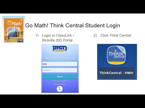 Go Math Thinkcentral Student Login Youtube