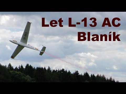 Let L-13 AC Blanik aerobatics, Airshow Chotebor 2017
