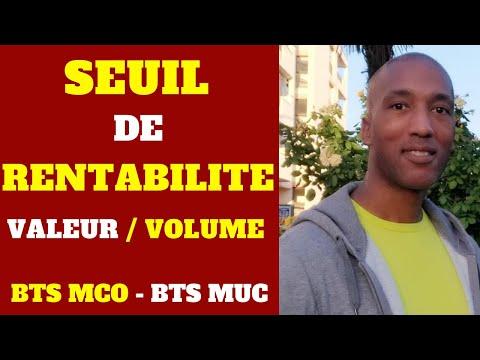 Bts Muc Gestion Comment Determiner Le Seuil De Rentabilite En