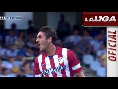 Gol de Koke (0-2) en el Real Sociedad - Atlético de Madrid - HD