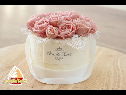 torte blumenbox rosen aus bohnenpaste youtube. Black Bedroom Furniture Sets. Home Design Ideas