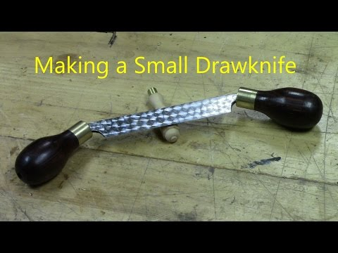 Making a Small Drawknife using a 4 inch joiner blade