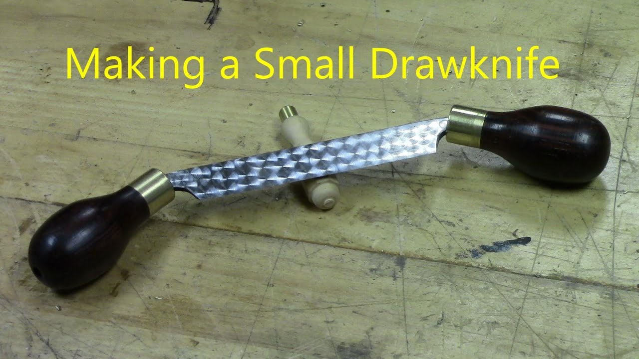 Making a Small Drawknife using a 4 inch joiner blade - YouTube