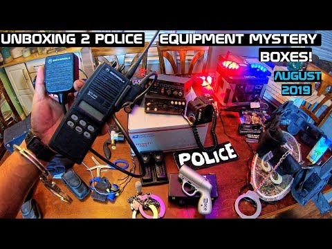 Unboxing 2 Police Equipment Mystery Boxes! Crown Rick Auto AUG 2019