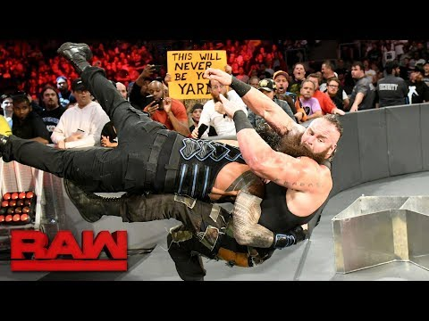 Roman Reigns vs. Braun Strowman - Last Man Standing Match: Raw, Aug. 7, 2017