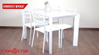 """Комплект Мускат стол + 4 стула. Обзор """"Стол и Стул"""". Интернет магазин мебели stol-i-stul.com.ua"""