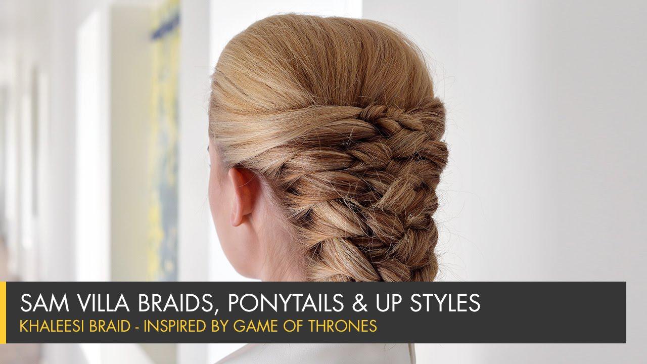 Game Of Thrones Inspired Hair Tutorial Khaleesi Braid Youtube