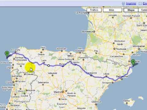 mapa de portugal com distancias em km Distancias entre ciudades de España   YouTube mapa de portugal com distancias em km