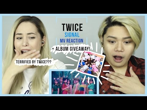 "Thumbnail: TERRIFIED BY TWICE ""SIGNAL"" M/V REACTION + ALBUM GIVEAWAY"