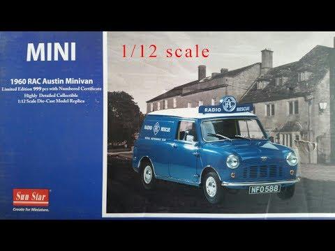 MINI austin minivan 1960 Sun Star 1/12 Обзор невероятной модели с полным функционалом