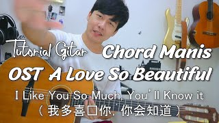 Download lagu I Like You So Much, You'll Know It (我多喜欢你,你会知道) - A Love So Beautiful OST Tutorial Gitar