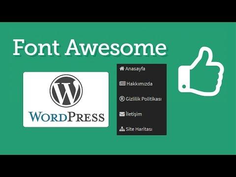 Wordpress menülerinde font-awesome ikonlarının kullanımı