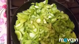 Жареные зелёные помидоры.🍽