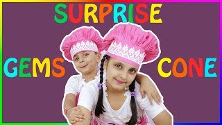 GEMS SURPRISE CONE | Kids Cooking Without Fire - Hindi | Kids Cooking Food | Aayu and Pihu Show
