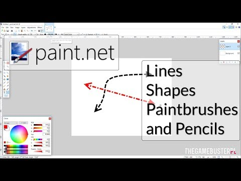 | Paint.net | Tutorial | Lines, Shapes, Paintbrushes and Pencils | #1 | 2017 |