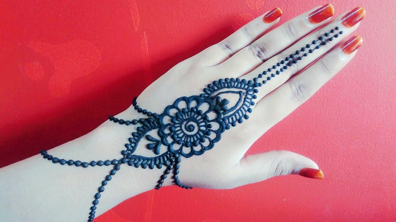 Mehndi Designs Jobs : Jewellery mehndi design arabic gulf diy henna