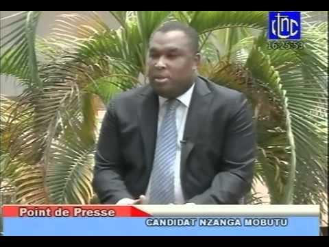nzanga mobutu devant la presse