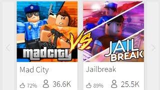 MAD CITY VS. JAILBREAK!! (Roblox)