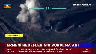 Azerbaycan Ermenistan Hedeflerini Havadan Böyle Vurdu