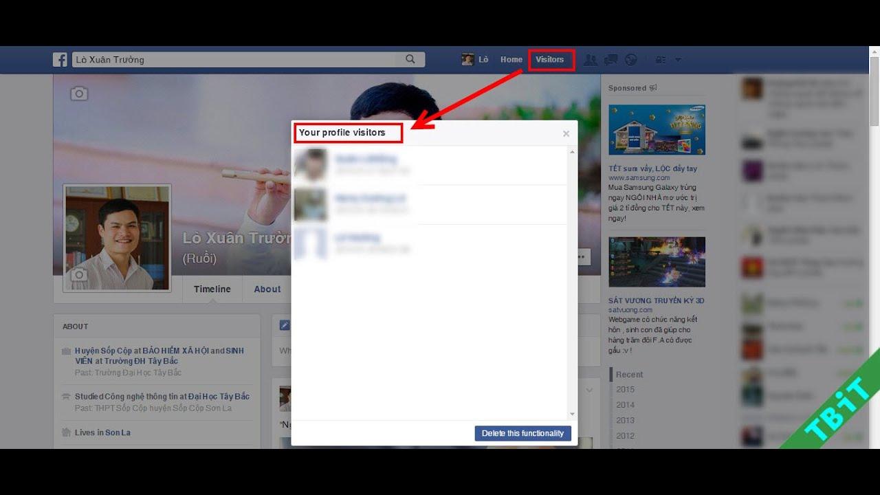 Cách kiểm tra ai đã ghé thăm tường facebook của bạn