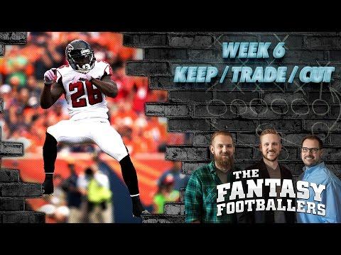 Fantasy Football 2016 - Week 6 Keep/Trade/Cut + Fantasy Questions - Ep. #284