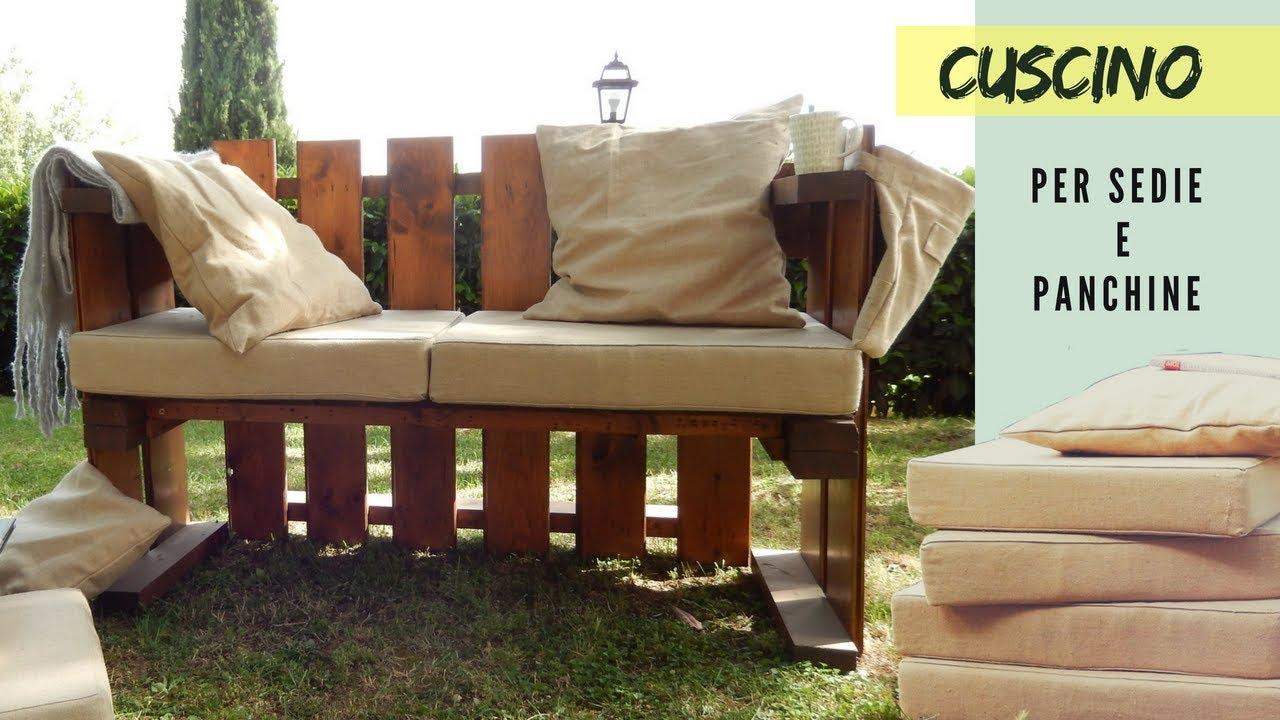 Cuscini Idrorepellenti Per Esterno cuscino da sedia o panchina con una lampo dietro
