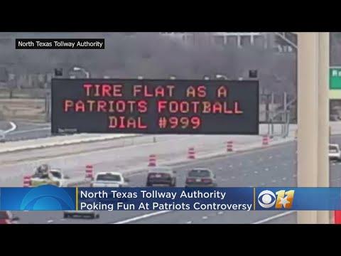 NTTA Signs Poke Fun At Super Bowl While Helping Texas Drivers