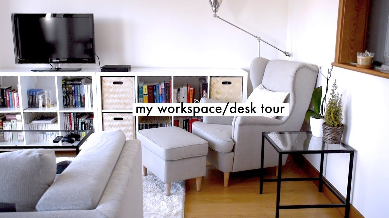 MY WORKSPACE STUDY TOUR » small apartment solutions - YouTube