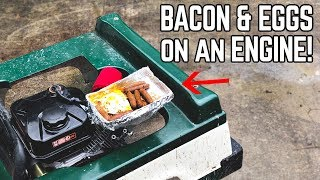 Cooking Breakfast on an ENGINE! Header Hot Plate Go Kart Mod!