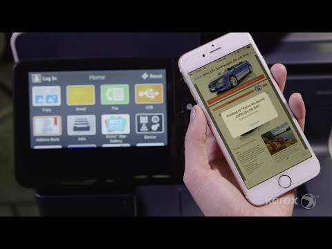 Printing to Your Xerox VersaLink MFP or Printer From Your Apple iOS Device
